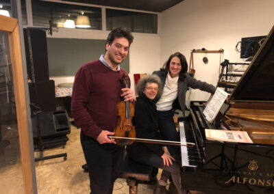 Fabrizio Falasca & Stefania Redaelli   Busoni recording session